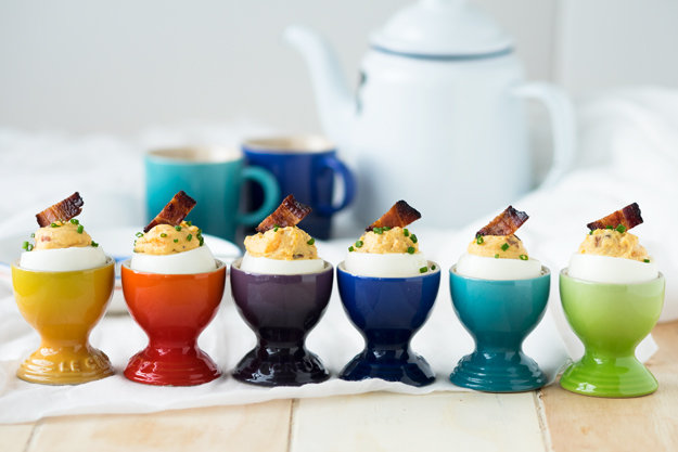 Bacon Deviled Eggs for Breakfast | The Worktop #breakfast #brunch #eggs