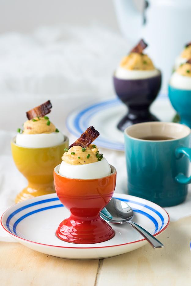 Bacon Deviled Eggs for Breakfast (GF)
