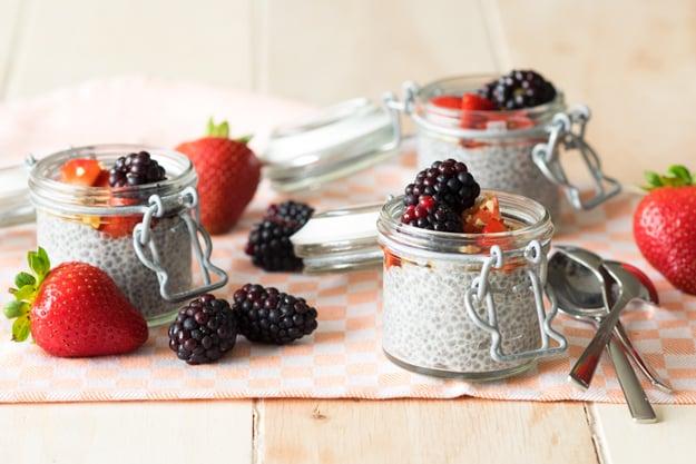 Overnight Chia Seed Pudding with Almond Milk | The Worktop #breakfast #GF #vegan