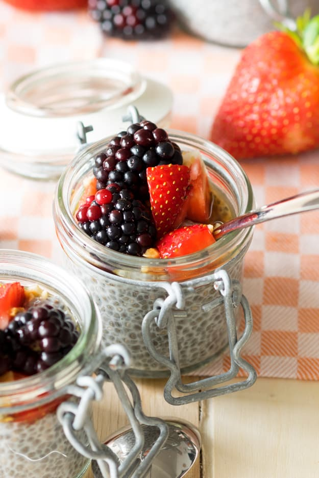 Overnight Chia Seed Pudding with Almond Milk | The Worktop #breakfast #GF #vegan