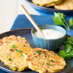 Chorizo and Corn Fritters | The Worktop -- make this for brunch! #breakfast #brunch