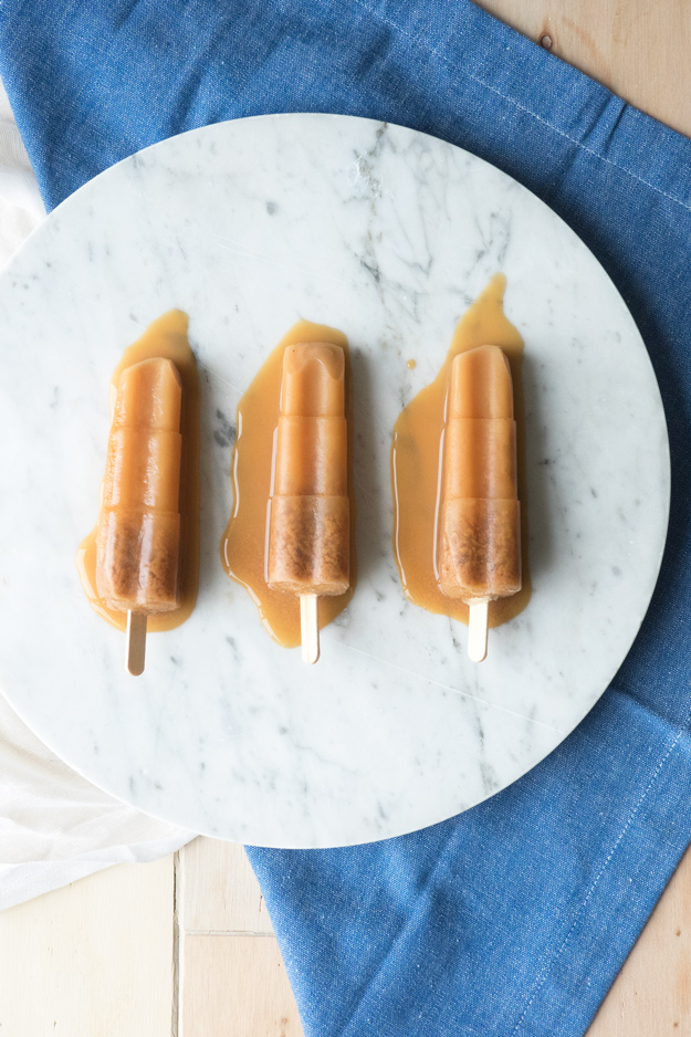 Hazelnut Chai Popsicles | The Worktop -- made with hazelnut milk for a dairy free chai popsicle! #vegan #GF #popsicle