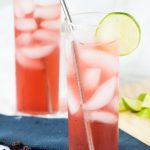 Hibiscus Lime and Coconut Cooler | The Worktop #drinks