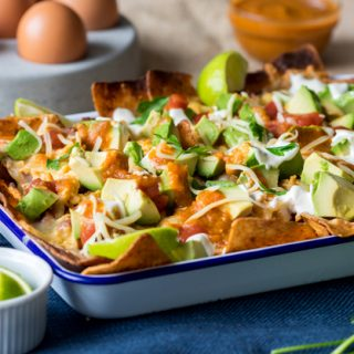 Breakfast Nachos with Chorizo and Egg for a hearty filling start to the day | The Worktop