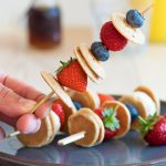 Mini Pancake Skewers that are perfect for a kid-friendly breakfast! Healthy and delicious, and super simple to make | The Worktop