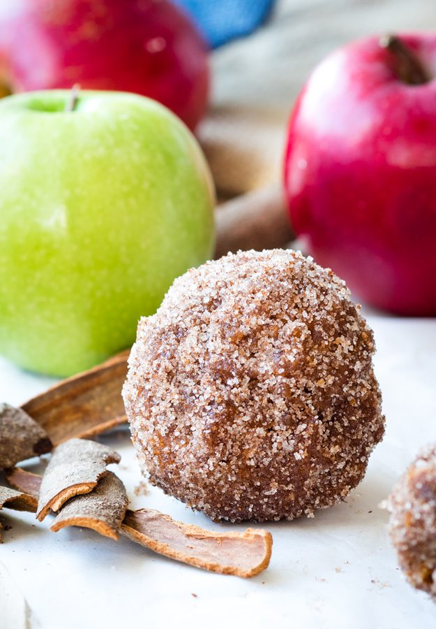 Apple Cider Donut Balls for a festive fall treat - like a giant donut hole! | The Worktop