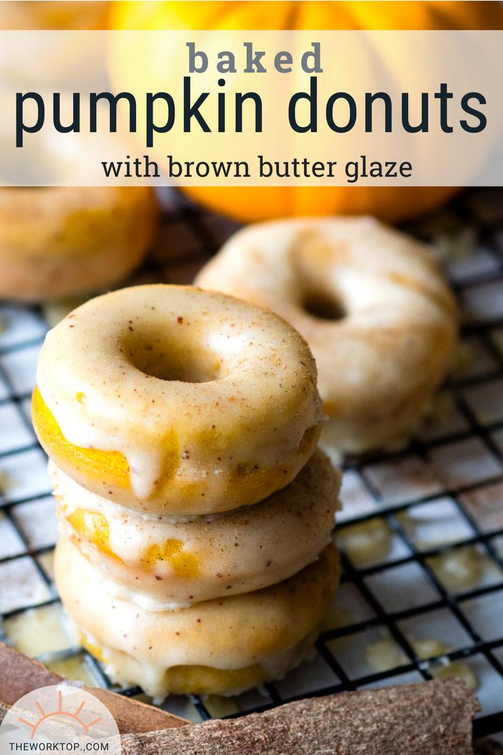 Baked Pumpkin Donut | Healthy Pumpkin Recipe | The Worktop