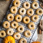 Mini Baked Pumpkin Donuts with Brown Butter Glaze - so comforting for fall! | The Worktop