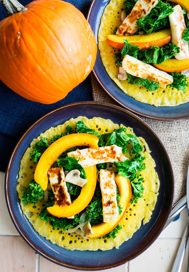 Farinata with Red Kuri Squash and Kale for a hearty and savory brunch | The Worktop