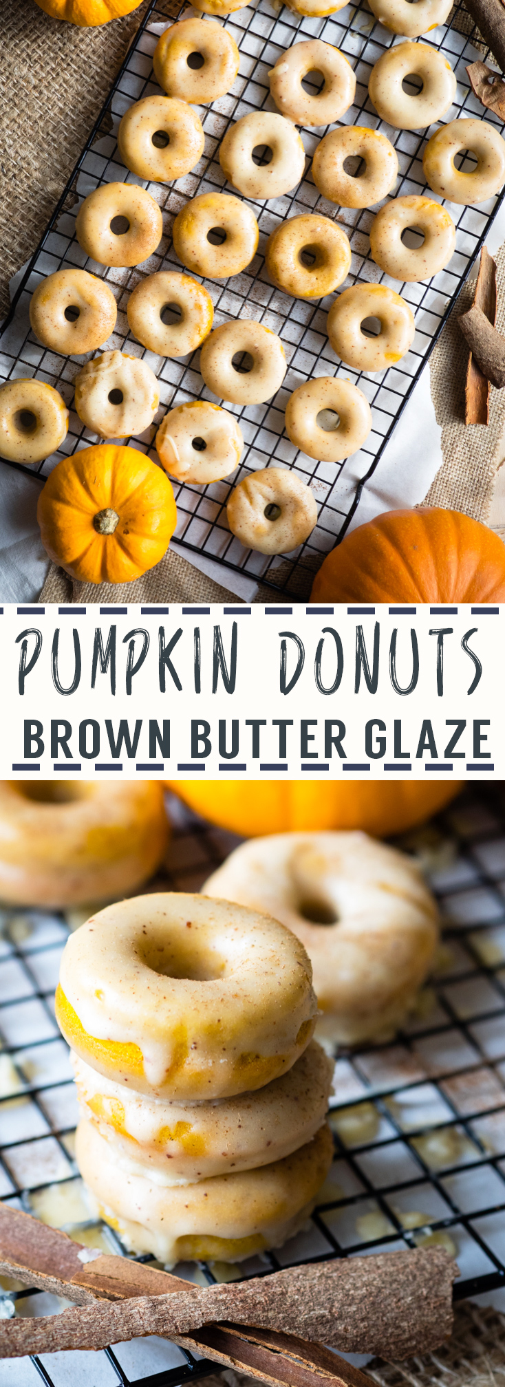 Baked Pumpkin Donuts with Brown Butter Glaze | The Worktop