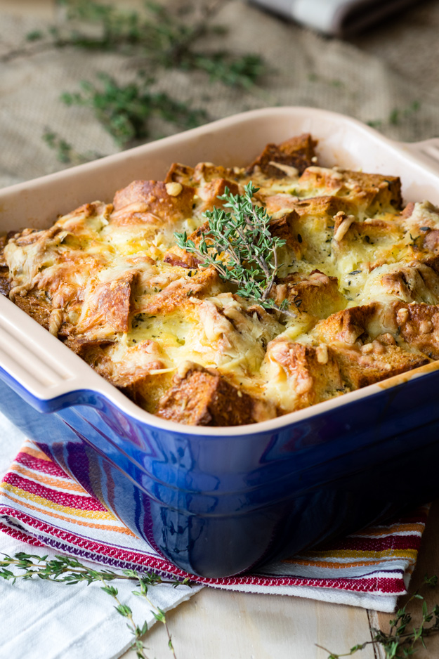 Savory Bread Pudding – Ham and Cheese Classic