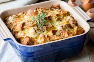 Savory Bread Pudding - Breakfast Casserole | The Worktop