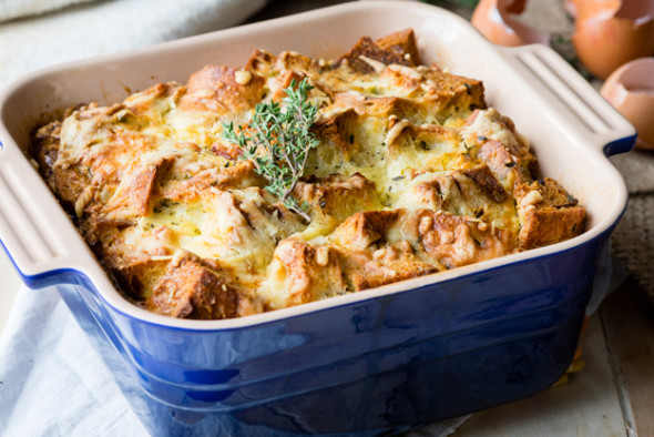 Savory Bread Pudding - Ham and Cheese classic! | The Worktop