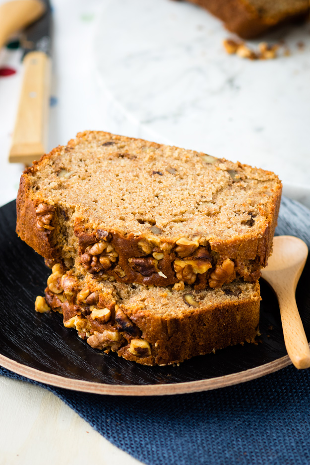 Spelt and Buckwheat Banana Bread - Incredibly moorish, beautiful, healthy and delicious! | The Worktop