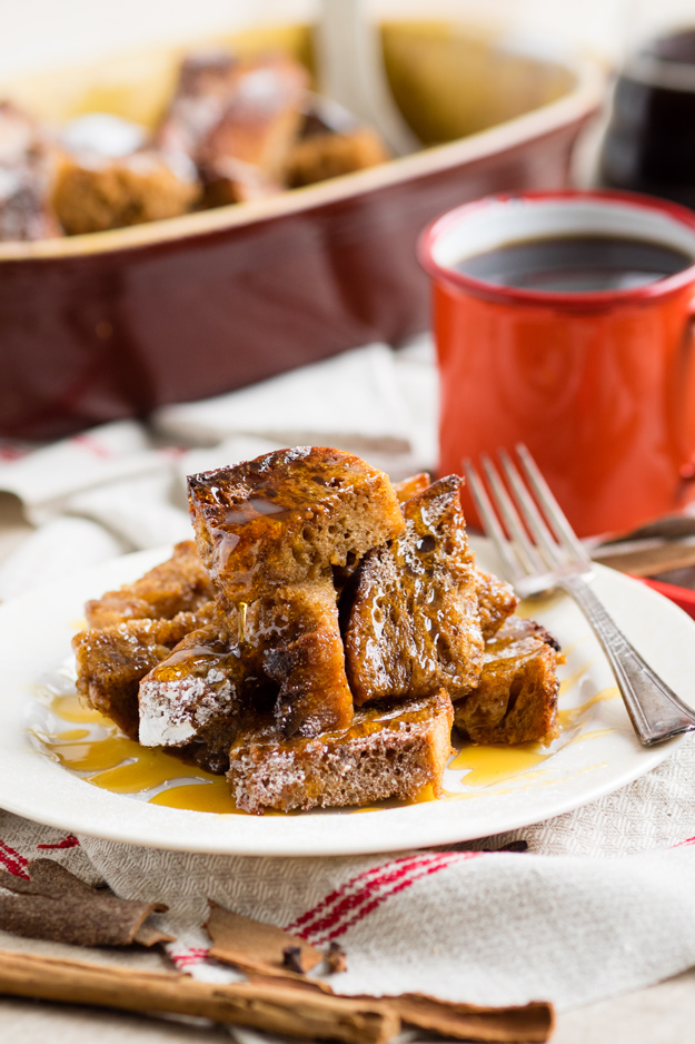 Overnight Baked Gingerbread French Toast