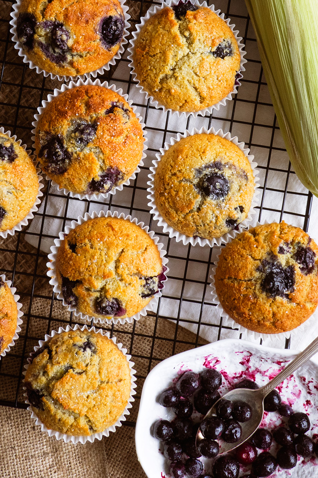 Blueberry Cornbread Muffins with a touch of honey | The Worktop