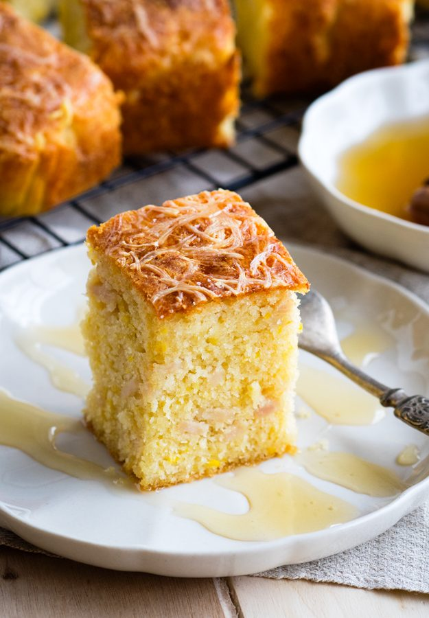 Savory Cornbread with Turkey and Cheese