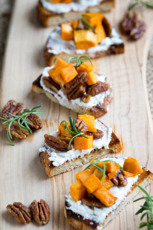 Sweet Potato and Candied Pecans Bruschetta Recipe | The Worktop