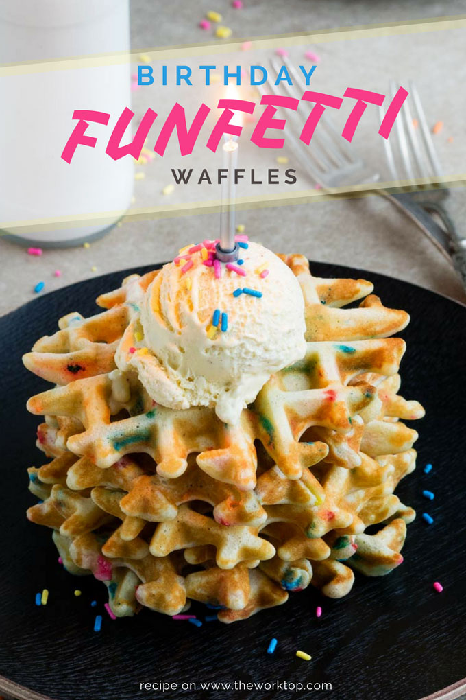 Birthday Breakfast Idea - Funfetti Waffles | The Worktop