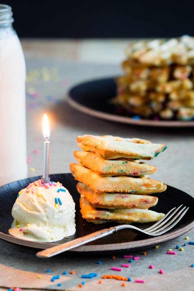 Funfetti Waffles for a Happy Birthday Breakfast   The Worktop