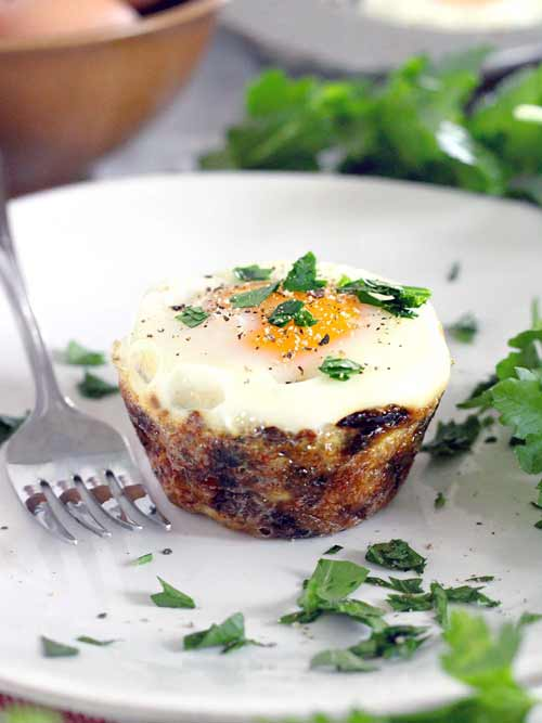 Bird's Nest Potato Egg Cups for Easter Brunch Idea