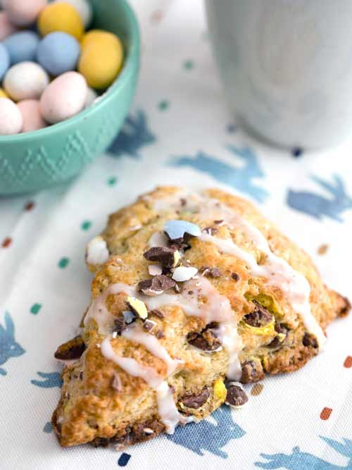 Cadbury Mini Egg Scones | Easter Breakfast Treats