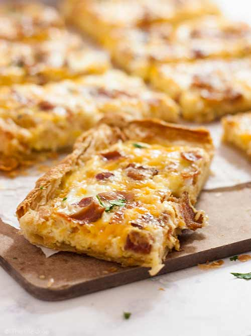 Puff Pastry Breakfast Pizza for Family Easter Brunch
