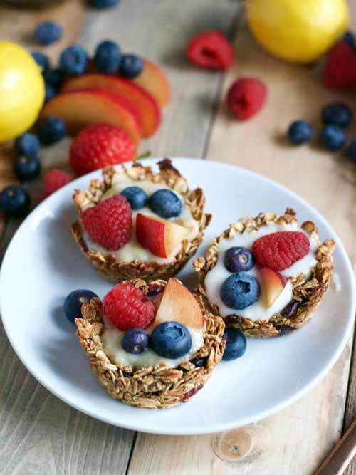 Vegan Granola Cups Easter Breakfast Idea