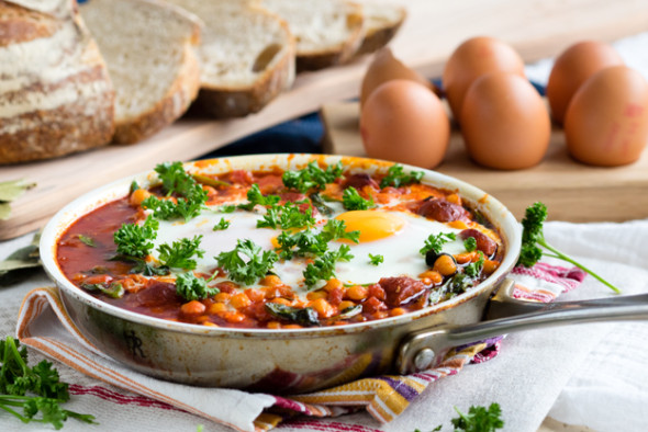 Chorizo Chickpea and Baked Eggs | The Worktop