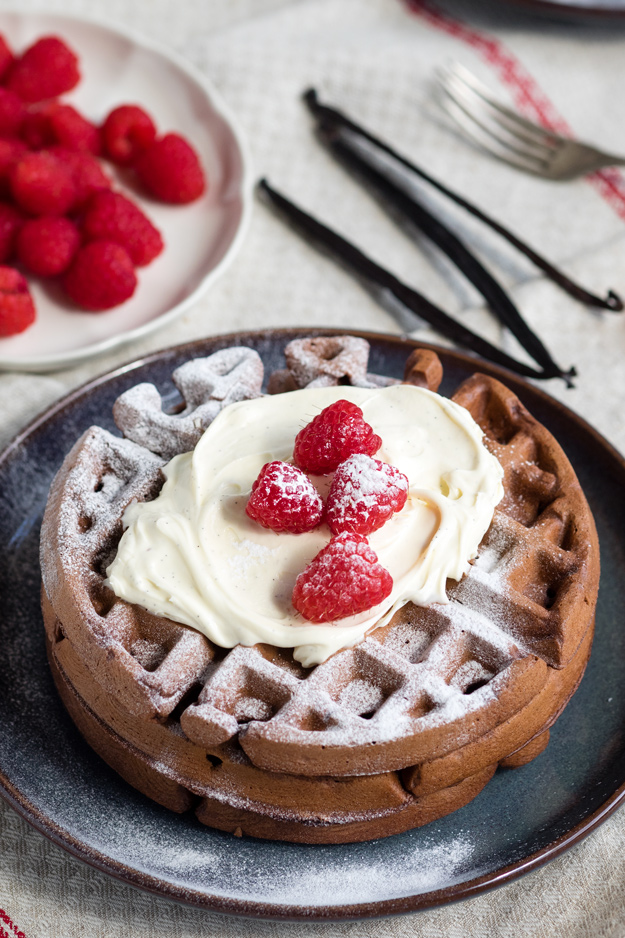 Dark Chocolate Waffles - a Chocolate Breakfast | The Worktop