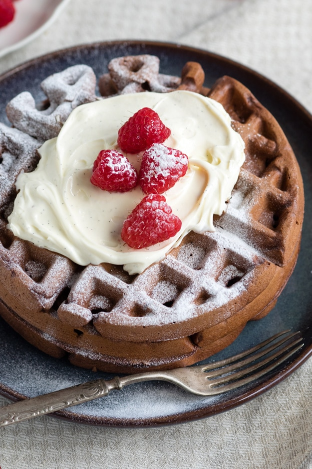Dark Chocolate Waffles for a chocolate breakfast | The Worktop