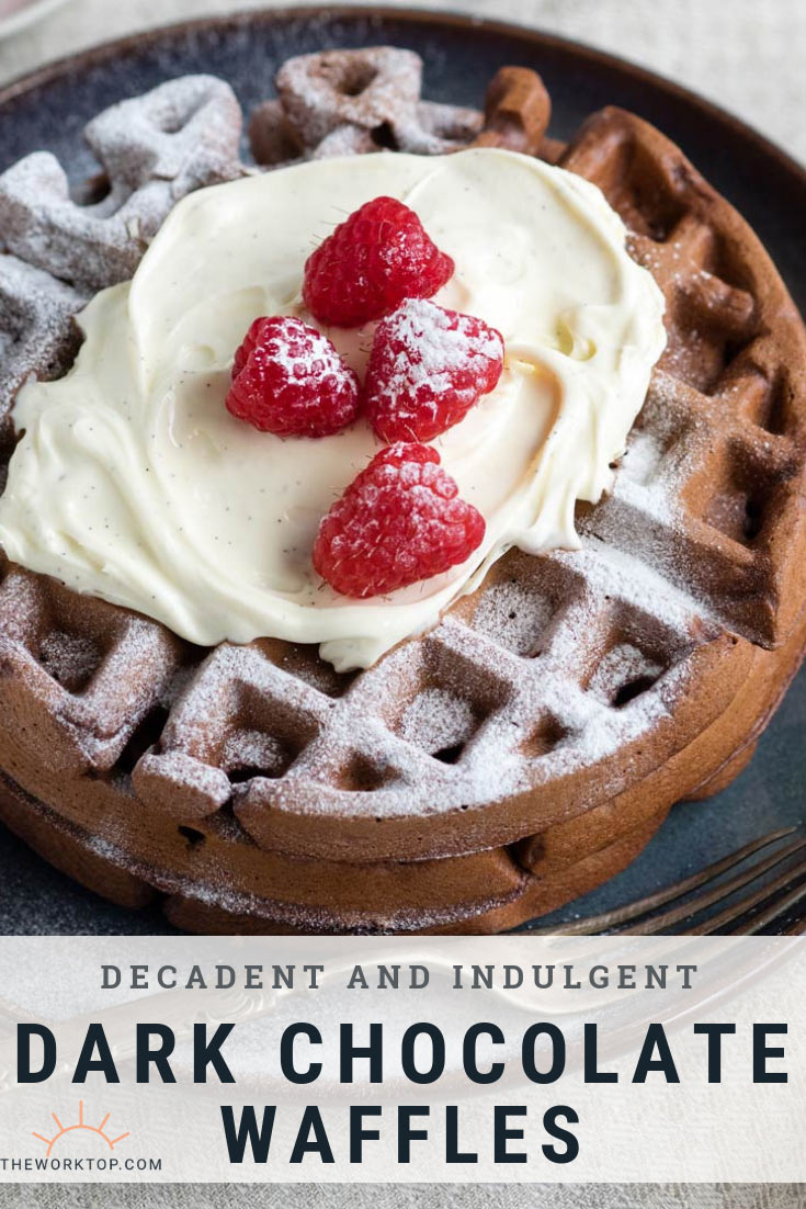Dark Chocolate Waffles Recipe | The Worktop