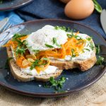 Harissa Onion and Poached Egg Toast | The Worktop
