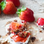 Strawberries and Granola Open Sandwich | The Worktop