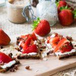 Strawberries and Granola Open Sandwich | The Worktop