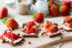 Strawberry and Granola Open Faced Sandwich