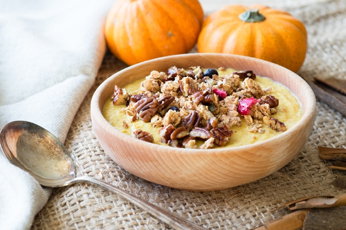 Healthy Breakfast Ideas - Pumpkin Greek Yogurt Bowl