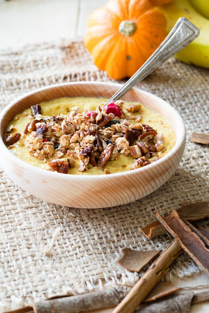 Pumpkin Greek Yogurt with Banana and Toasted Pecans | The Worktop