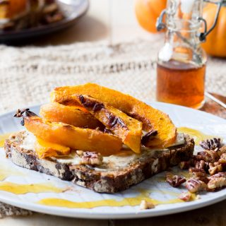 Roasted Pumpkin on Toast for a fall breakfast | The Worktop