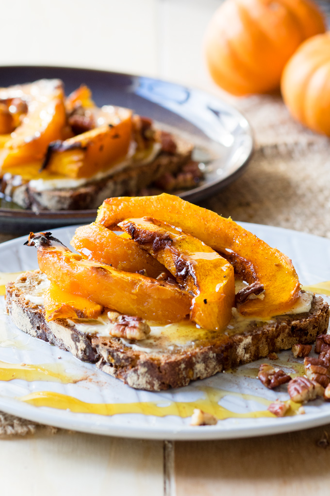 Roasted Pumpkin on Toast, a delicious autumn breakfast ...