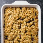 Cranberry Sauce Oatmeal Bars | Easy Thanksgiving Breakfast Ideas