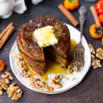 Paleo Pumpkin Pancakes | Thanksgiving Brunch Ideas
