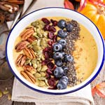 Pumpkin Pie Smoothie Bowl | Thanksgiving Breakfast Recipes