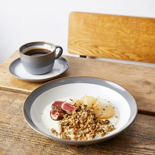 Yogurt Breakfast Bowl with Poached Pears and Salted Caramel | The Worktop
