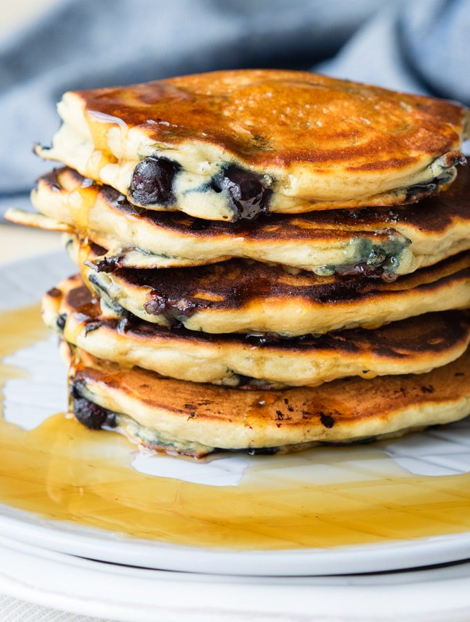 Blueberry Vegan Pancakes