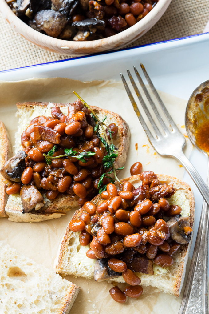 Pressure Cooker Baked Beans on Toast | The Worktop