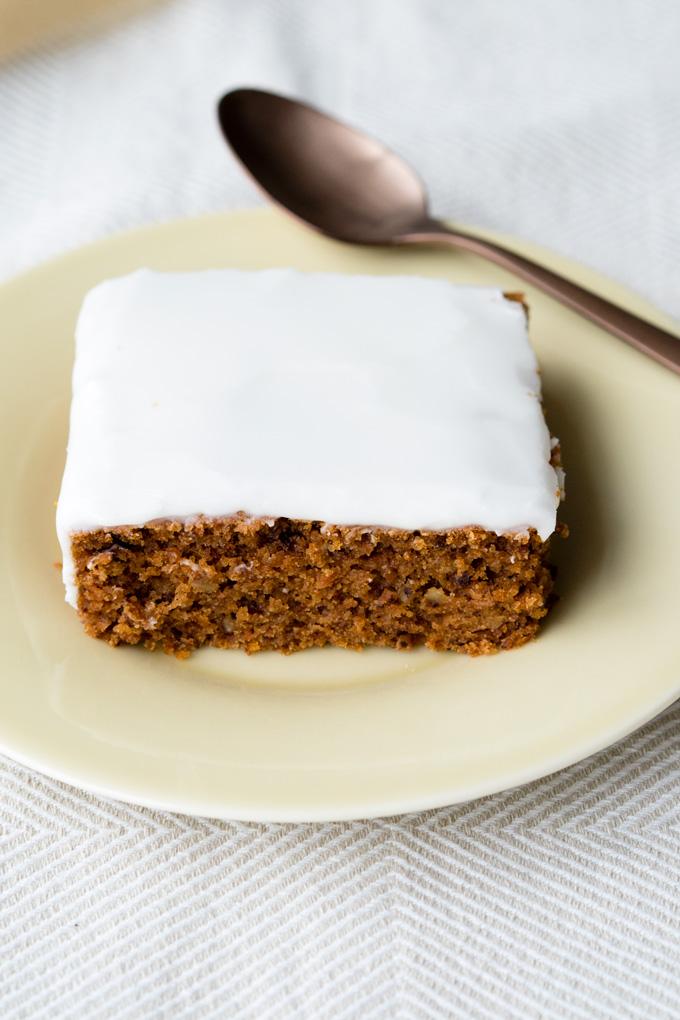 Vegan Carrot Cake with Coconut Yogurt Icing | The Worktop