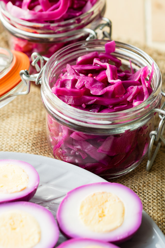 Pink Pickled Eggs | The Worktop