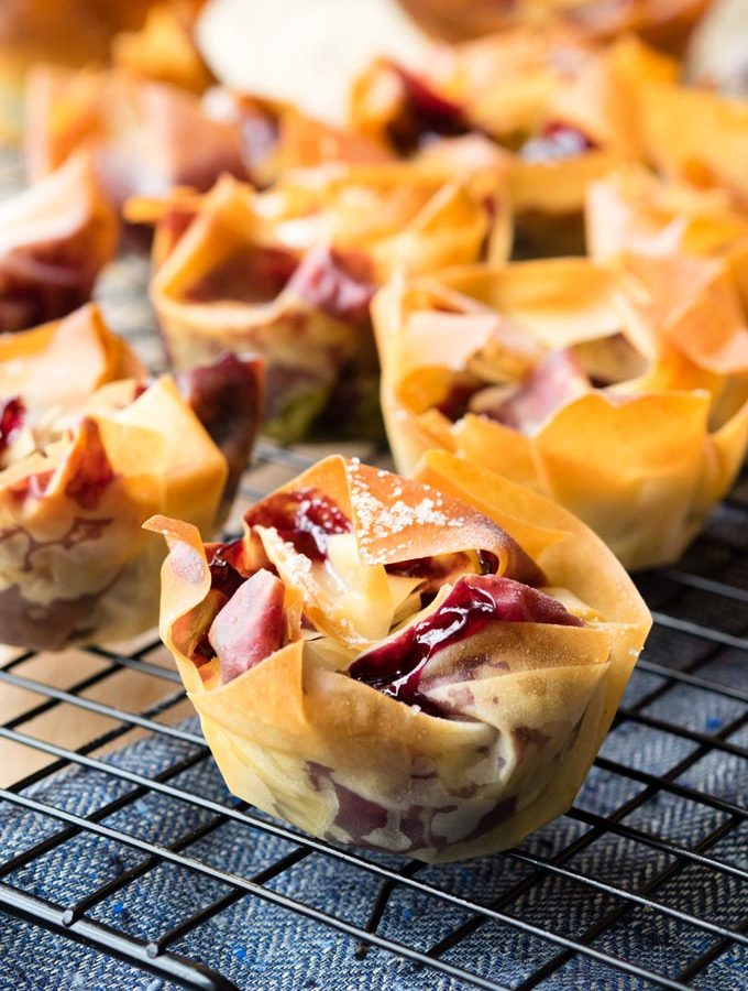 Cherry Filo Pastry Tarts | The Worktop
