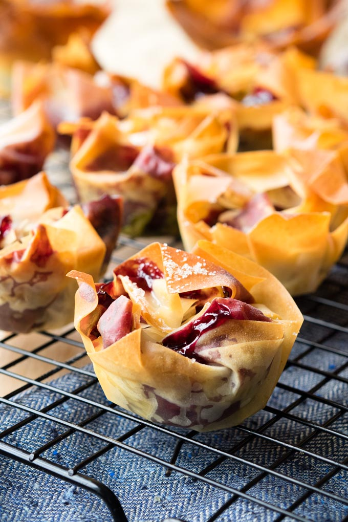 Cherry Filo Pastry Tart | The Worktop